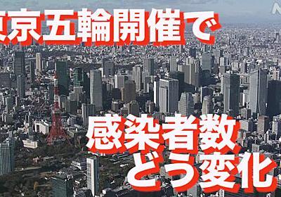 東京五輪開催で感染者数どう変化? 東大グループ試算 | 新型コロナウイルス | NHKニュース