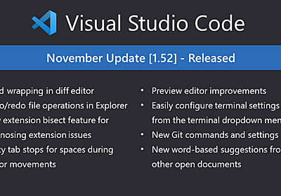 Visual Studio Code November 2020