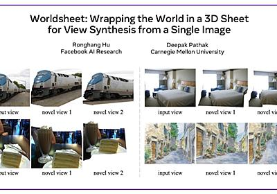 Worldsheet: Wrapping the World in a 3D Sheet for View Synthesis from a Single Image