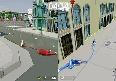 犬が飼い主を引きずり回すアクションゲーム『PLAY DOG PLAY TAG』Steamストアページ公開。街を破壊しホネを奪還せよ | AUTOMATON