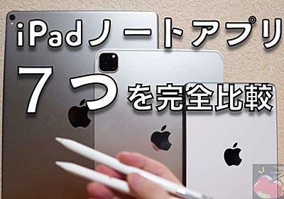 【2020'改】iPadノートアプリ7つを完全比較!あなたが使うべきアプリはこれ! | Apple信者1億人創出計画