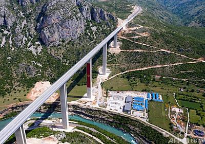 中国の援助で「債務のわな」? 小国モンテネグロの巨額道路建設 写真9枚 国際ニュース:AFPBB News