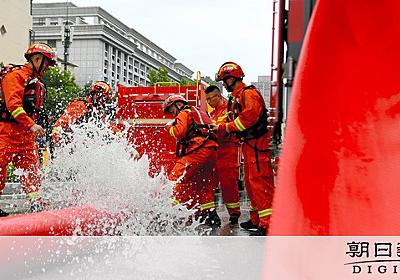 被災中に抗日ドラマ 中国の水害、当局対応に批判相次ぐ:朝日新聞デジタル
