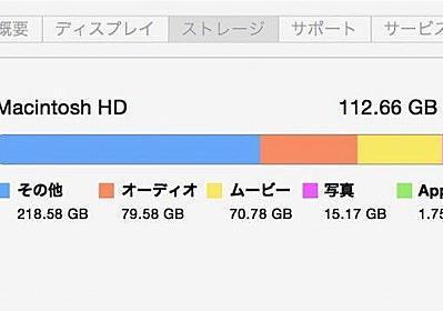 Macのストレージに出てる「その他」が何かを特定してHDD・SSDの空き容量を増やす方法 | ほーくブログ