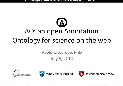 AO: Annotation Ontology for science on the web