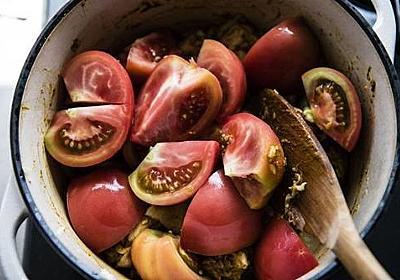 カレーライスを、トマトから出る水分だけで作る | 週末レシピ | オリーブオイルをひとまわし