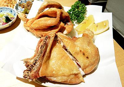 蒲田「うえ山」の鶏の素揚げが無言になるほどうまい…!何を食べてもハズレのない名店 - ぐるなび みんなのごはん