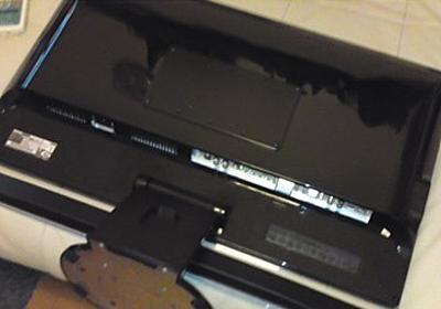 BenQ M2700HD 台座の取り外し方法 - Internal