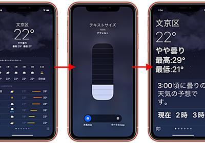 iOS 15ではアクセシビリティ機能としてアプリごとにテキストサイズやコントラスト、カラーフィルタ、視差効果を設定することが可能に。