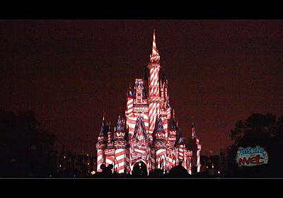 """Christmas version of """"The Magic, the Memories, and You"""" on Cinderella Castle at Walt Disney World"""