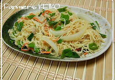 今日のレシピは『ソーメンチャンプルー』 そうめんがくっ付かないコツがありますよ | Farmer's KEIKO オフィシャルブログ「Farmer's KEIKO 農家の台所」Powered by Ameba