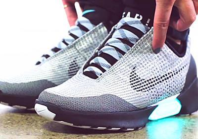 自動的に靴ひもが締まるナイキのスマートシューズ「HyperAdapt」の動く様子がわかるムービー - GIGAZINE