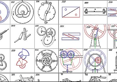 アニメーションと図でいろいろな歯車や機構の動く仕組みが見てわかる「507 Mechanical Movements」 - GIGAZINE