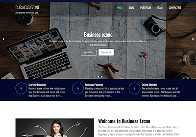 Business Ezone – WordPress Theme Review