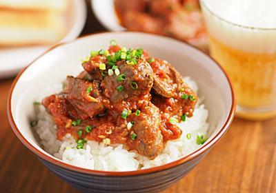 鶏レバーをトマト缶とみそでフライパン煮「トマトみそ鶏レバ丼」がやわらかくてうま味しかない【筋肉料理人】 - メシ通 | ホットペッパーグルメ