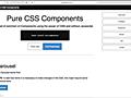 JavaScriptは無し、CSSで実装されたUIコンポーネントのまとめ -Pure CSS Components | コリス