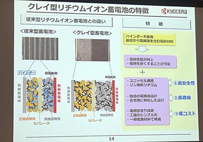 京セラが「世界初」の新型リチウムイオン電池を量産化、卒FITユーザーを取り込めるか (1/2) - スマートジャパン