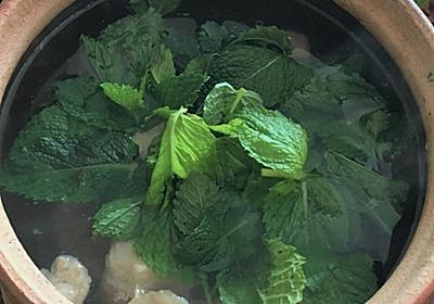 おうちで中華 - 薄荷牛肉湯(ミントと牛肉のスープ)|酒徒(しゅと)|note