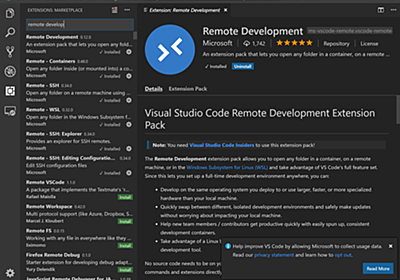 VSCodeのRemote Development機能が革命的な話。 - Crieit