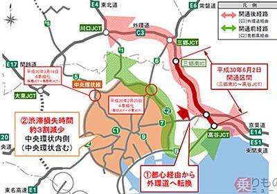 首都高の都心渋滞、外環道千葉区間の開通で改善 一方で渋滞増の区間も   乗りものニュース