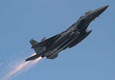 CNN.co.jp : 戦闘機から火花、航空ファンが気付き基地に電話 無事帰還 - (1/2)