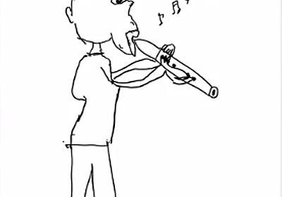 乃木坂46の絵心チェック作品集「生田画伯の笛を吹く人」 | 乃木坂46スピーチ全文「乃木坂書き起こし中」