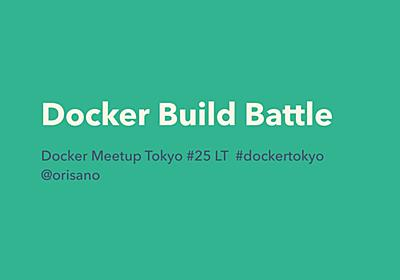 docker build battle - Speaker Deck