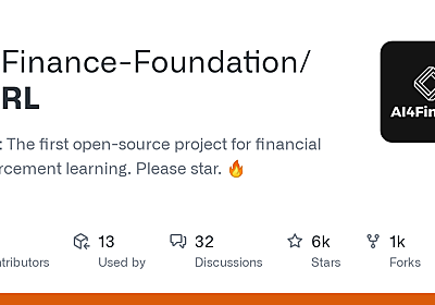 GitHub - AI4Finance-LLC/FinRL: A Deep Reinforcement Learning Library for Automated Trading in Quantitative Finance. NeurIPS 2020. 🔥