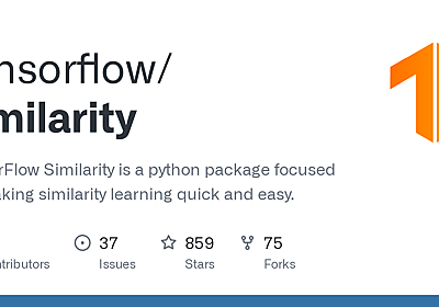 GitHub - tensorflow/similarity: TensorFlow Similarity is a python package focused on making similarity learning quick and easy.
