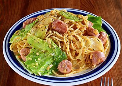 マヨネーズで炒めて旨味倍増計画「手ちぎり魚肉ソーセージとキャベツのスパゲティ」【ヤスナリオ】 - メシ通 | ホットペッパーグルメ