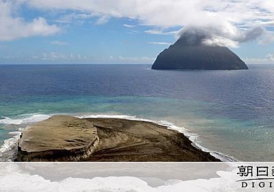 海底火山の島、消えちゃいそう 福徳岡ノ場、火砕流の痕を空撮で確認:朝日新聞デジタル