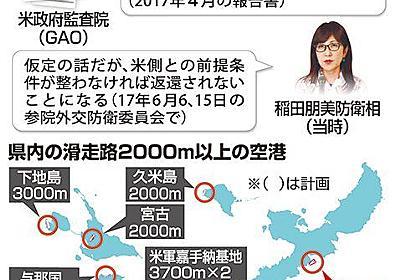 辺野古に代替施設ができても、普天間飛行場が返還されない可能性があるって本当? - 琉球新報 - 沖縄の新聞、地域のニュース