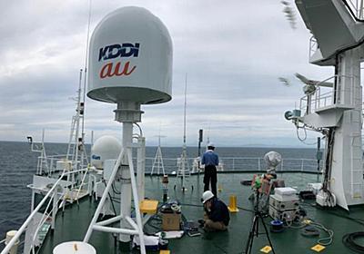 KDDI、日高沖で船舶型基地局を初めて運用 - ケータイ Watch