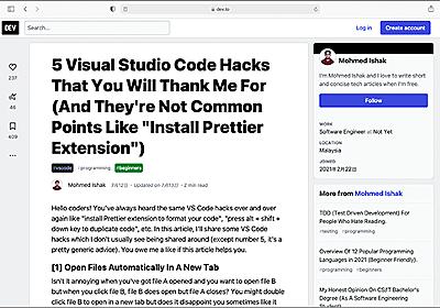 コーディングに役立つ!Visual Studio Codeのちょっとかゆいところに手が届くような便利な機能とテクニック | コリス