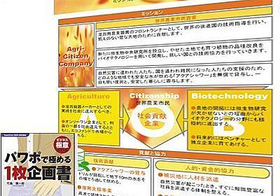 ASCII.jp:これぞ完璧企画書――「1枚企画書」パターン実例3題 |パワポで極める「ビジネス極意」