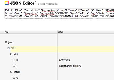 JSONをツリー表示で編集出来るWebアプリ「JSON Editor」 - 強火で進め