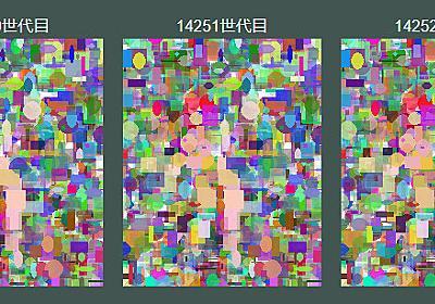 """楓蛙 on Twitter: """"なんとなく最近見守ってた遺伝的アルゴリズムちゃんが、昨日の時点では1枚目みたいな状態だったのに、いつの間にか2~3枚目のような溶け方を経て、現在は4枚目のような形に再形成されていってる…。 https://t.co/ThSoxlGubO"""""""