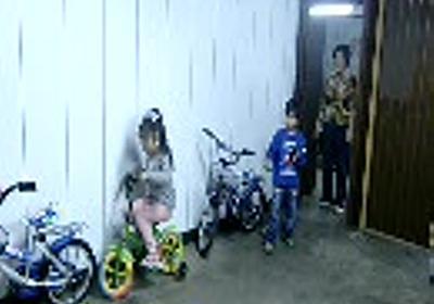 幼女のドリフト駐車