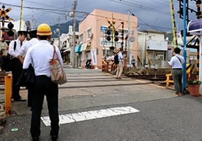 踏切内に起伏 死亡の車いす男性、立ち往生か 神戸・灘
