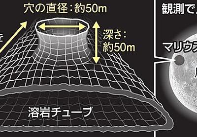 月の地下に長さ50キロの空洞 探査機「かぐや」で判明:朝日新聞デジタル