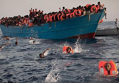 リビア沖で移民約6500人を救助=イタリア沿岸警備隊 - BBCニュース