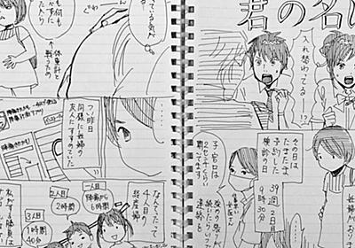 末次由紀先生が出産入院中にボールペンかつフリーハンドで描いた出産エピソード漫画「君の名は。」が経験者に大ウケ - Togetter