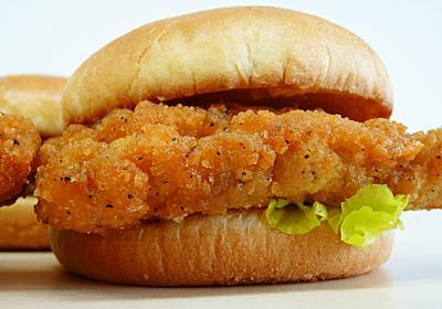 ファミチキをハンバーガーにした「ファミチキバーガー」試食レビュー - GIGAZINE