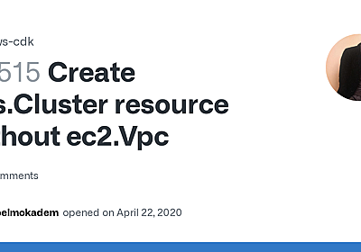 Create ecs.Cluster resource without ec2.Vpc · Issue #7515 · aws/aws-cdk