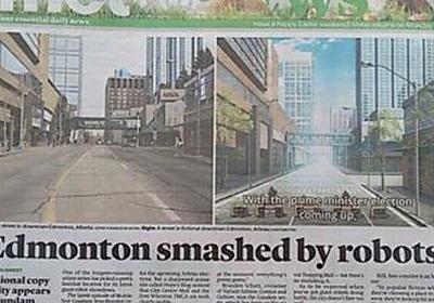 『鉄血のオルフェンズ』カナダ地元紙の一面を飾る!忠実に再現された街並みに歓喜の声 – にじめん
