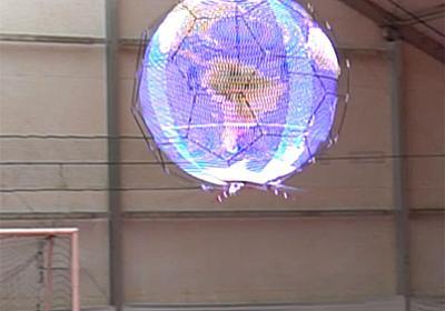 「浮遊球体ドローンディスプレイ」、NTTドコモ開発 光の残像で全方位に映像 - ITmedia NEWS