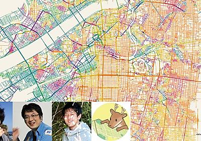 道路を方角ごとに色分けした地図を鑑賞する会 :: デイリーポータルZ