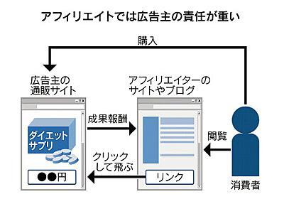 アフィリエイト、広告主の責任重く 消費者庁が追及  :日本経済新聞