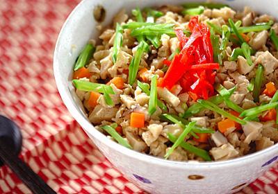 高野豆腐のそぼろ丼のレシピ・作り方 | 【E・レシピ】料理のプロが作る簡単レシピ