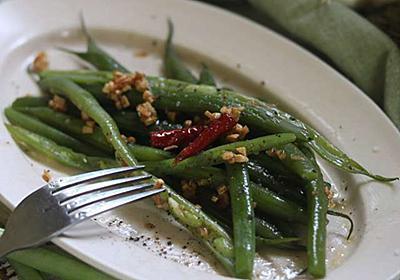 ほとんどの野菜はペペロンチーノにすると旨い!〜インゲンのアーリオ・オリオ - 今日、なに食べよう?〜有機野菜の畑から~